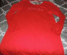 Victoria's Secret Night Gown Pajama L Red ANGEL SeXy VS NEW NWT LS