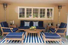 Sack Grade-A Teak Wood 7pc Sofa Lounge Chair Rnd Coffee Set Outdoor Garden Patio