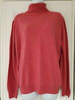 Womens Marks And Spencer Pink Roll Neck Pure Wool Long Sleeve Knit Jumper 18.