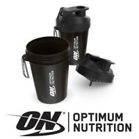 Optimum Nutrition Exclusive Mini Black 600ml Protein Shaker Bottle Mixer BPA Fre
