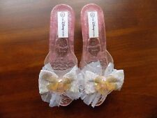 Disney Store Princess Sleeping Beauty Costume Dress Up Shoes Jelly 11/12 Girls