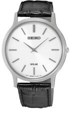 Seiko Gents Solar Leather Strap Watch   SUP873P1-NEW