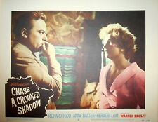 CHASE A CROOKED SHADOW Lobby Card #6 Anne Baxter Herbert Lom Film Noir 1958