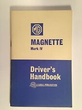 MG Magnette Mark IV Driver's Handbook - Original - Near Mint Condition