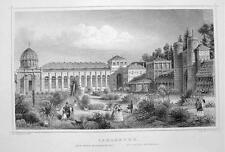 GERMANY Carlsruhe Botanical Garden - 1860 Original Engraving Print