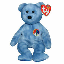 8a0b30a2974 Ty Beanie Baby Peace 2003 - MWMT (Bear Blue Peace sign version 2002)