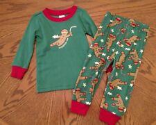 Gymboree Boys Ninja Bread Gingerbread Pajamas PJs Toddler 6-12 Months