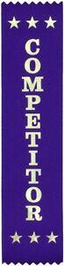 25 Competitor Award Ribbons 200 x 50 mm - Metallic GOLD print
