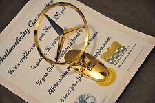 24K GOLD PLATED Mercedez Benz REPLICA Emblema Logo Ornament CAPPUCCIO METALLO STEMMA AUTO