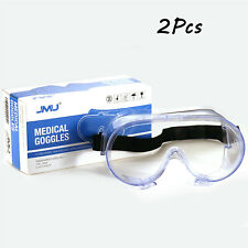 2Pcs Safety Goggles Glasses Work Lab Eye Protection Dental Medical Supply