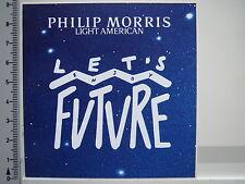 Aufkleber Sticker Philip Morris - Light American - Enjoy Future (1513)