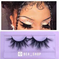 """Feathered"" Natural 25mm MINK Lash Fluffy 3D Dramatic Long Lashes•USA SELLER"