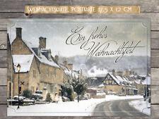 """Weihnachtskarten 10 Stück,  """"Christmas Village"""" - Postkarte 17,5 x 12 cm"""