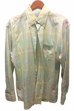 Alex Cannon Mens [L] 100% Linen Natural Multi-Color Long Sleeve Button Shirt