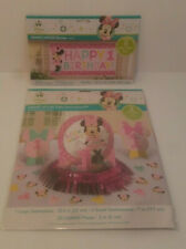 1ST Birthday Minnie Mouse Table Decorating Kit Centerpiece & 5 Ft. Banner Lot