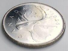 1966 Canada Twenty Five 25 Cent Quarter Uncirculated Elizabeth II Coin J552
