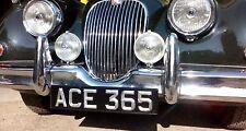 Classic & Vintage Ace Peak Number / License Plates,Black & Silver, (Single)
