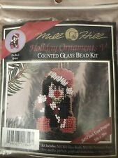 Mill Hill Beaded Cross Stitch Kit Holiday Ornaments V Candy Cane Penguin H49