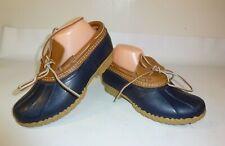 L.L. Bean The Original Moc Boots Women's Blue Low Duck Shoes New - US 8