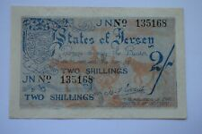 More details for states of jersey two shillings 2/- banknote jn135168 april 1942 superb - scarce