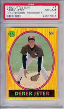 1992 Little Sun Pre Rookie Derek Jeter NY Yankees High School Prospects #2 PSA 8