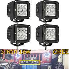 4X 18W SUV 3X3 Pods Spot Led Work Light Cube Boat Marine Ranger Polaris Jeep
