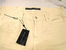 Ralph Lauren Black Label Moto 5 pocket Style 100% Cotton Pants NWT 32 x 34L $395