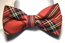 NWT Men's Red and Green TARTAN PLAID CHRISTMAS  Bow Tie