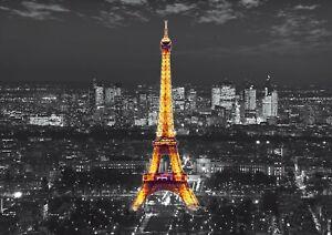 Fototapete Tapete Paris Eiffelturm Stadt Skyline 360x254cm + KLEISTER | FTS 1316