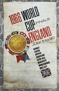 Original Carvosso 1966 World Cup Poster In Poor Condition