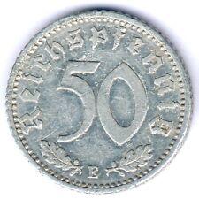 III. Reich 50 Reichspfennig 1935 E. (Alu.) Jaeger 368, ss/vz
