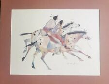 """THE TWO BROTHERS WATERCOLOR ART PRINT BY CAROL GRIGGS w/ CUSTOM MATTE 24""""x30"""""""