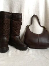 Coach Kimberly Style Brown Winter Boots Lining Size 8.5