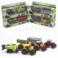 Diecast Metal Farm Tractor Car Children Toys Alloy Models Random Color