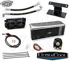 Stainless Ultracool The Reefer Oil Cooler Dual Fan Oil Cooler for Harley 1999-08