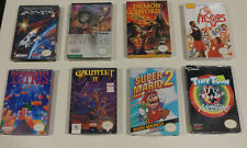 HUGE NES Complete in Box CIB Games Lot: Mario and more! Authentic & tested!