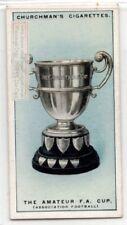 A.F.A. Amateur Football Association Cup England Soccer 1920s Ad Trade Card