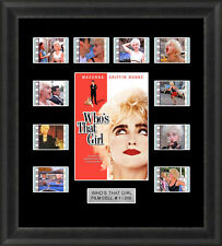 Who's That Girl Madonna Framed 35mm Film Cell Memorabilia Filmcells Movie Cell
