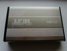 Festplattengehäuse 3,5 ZOLL EXTERN IDE - HDD FESTPLATTE GEHÄUSE USB 2.0 SILBER