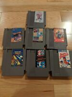 Lot of 7 Nintendo NES Video Games Mario Ninja Garden