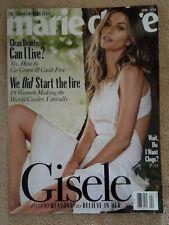 Gisele Bundchen White Dress Cover Marie Claire Magazine April 2020 NEW Believe