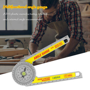 Angle Finder Miter Saw Protractor Measuring Ruler Goniometer Professional BAB