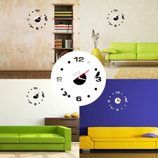 3D Reloj De Pared Decorativo Decoración De Pared Número Adhesivo Craft Sin Marco