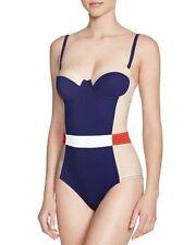 Tory Burch Women's Colorblock Lipsi One-piece Swimsuit Sz L (K25)