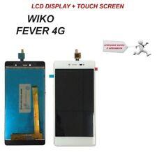 LCD DISPLAY + TOUCH SCREEN SCHERMO ORIGINALE WIKO FEVER 4G  BIANCO NUOVO VETRO