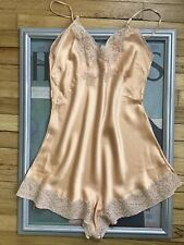 """Antique 1930's silk and lace teddie - step in - slip - Small Medium 34"""" bust"""