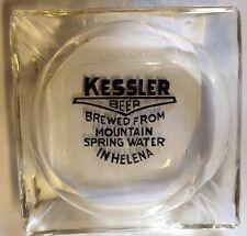 Rare Kessler Beer Ash Tray Helena Montana Vintage Glass Mountain Spring Water