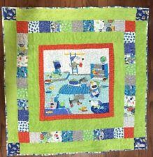 """New handmade""""Dog Quilt Design""""35.5x35.5"""" in cotton unisex baby/toddler quilt"""