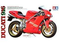 TAMIYA MOTORCYCLE SERIES NO.68 1:12 KIT MOTO IN PLASTICA  DUCATI 916 ART 14068