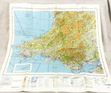 1985 Military Map of Wales Swansea Cardiff RAF Helicopter Pilot Aviation Chart